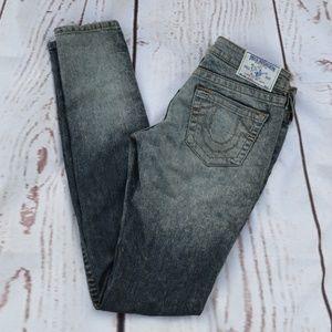 True Religion Skinny Red Blackwood Forest Jeans 26